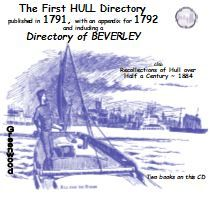 1791 Hull and Beverley Directory and Recollections of Hull 1884 - DOWNLOAD [Free Delivery]