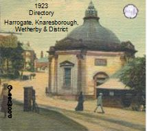 1923 Directory Harrogate, Knaresborough, Wetherby & District - CD