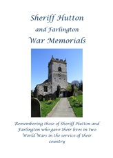 Sheriff Hutton and Farlington - War Memorials - A4 Book